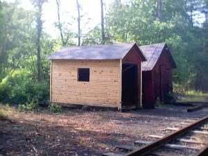 Rockhill Car Shed under restoration in 2002