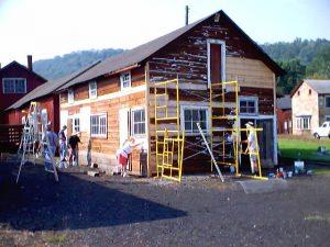 Restoration work on the Electrical/Brake Shop in 2003