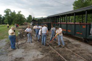 FEBT Volunteers tamp up ties along Track 1