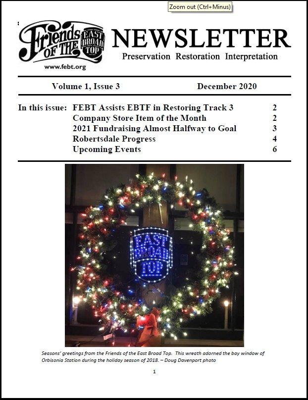 Dec 2021 FEBT Newsletter Cover
