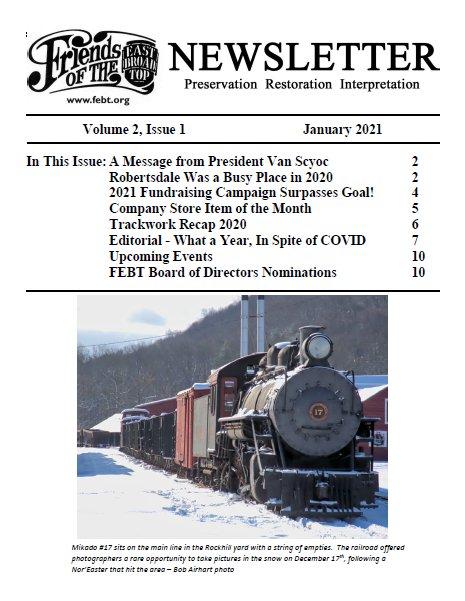 Jan 2021 FEBT Newsletter Cover