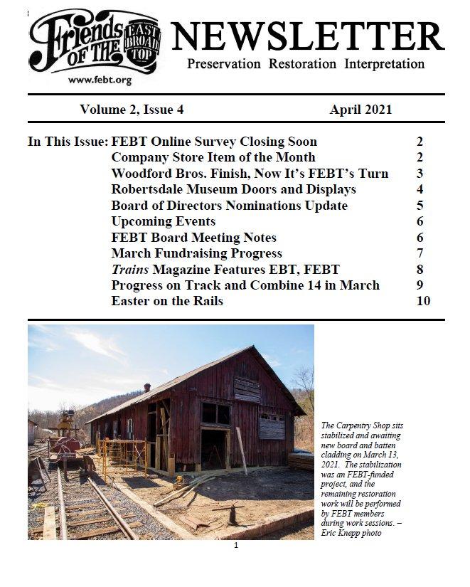 FEBT Newsletter - April 2021 - V2 I4 Cover