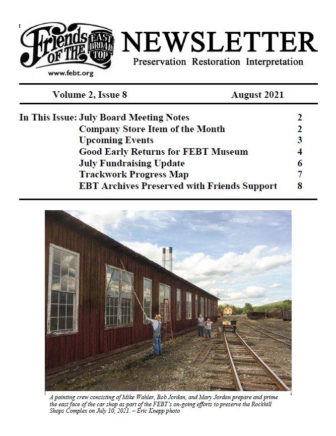 FEBT Newsletter - August 2021 cover